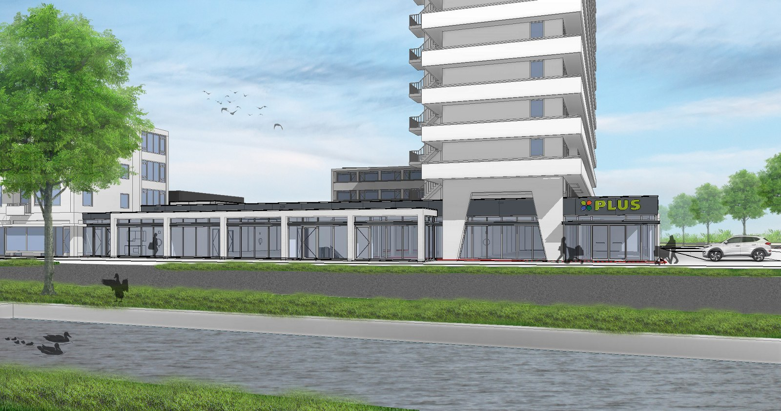 Uitbreiding winkelcentrum van Foreestweg Delft