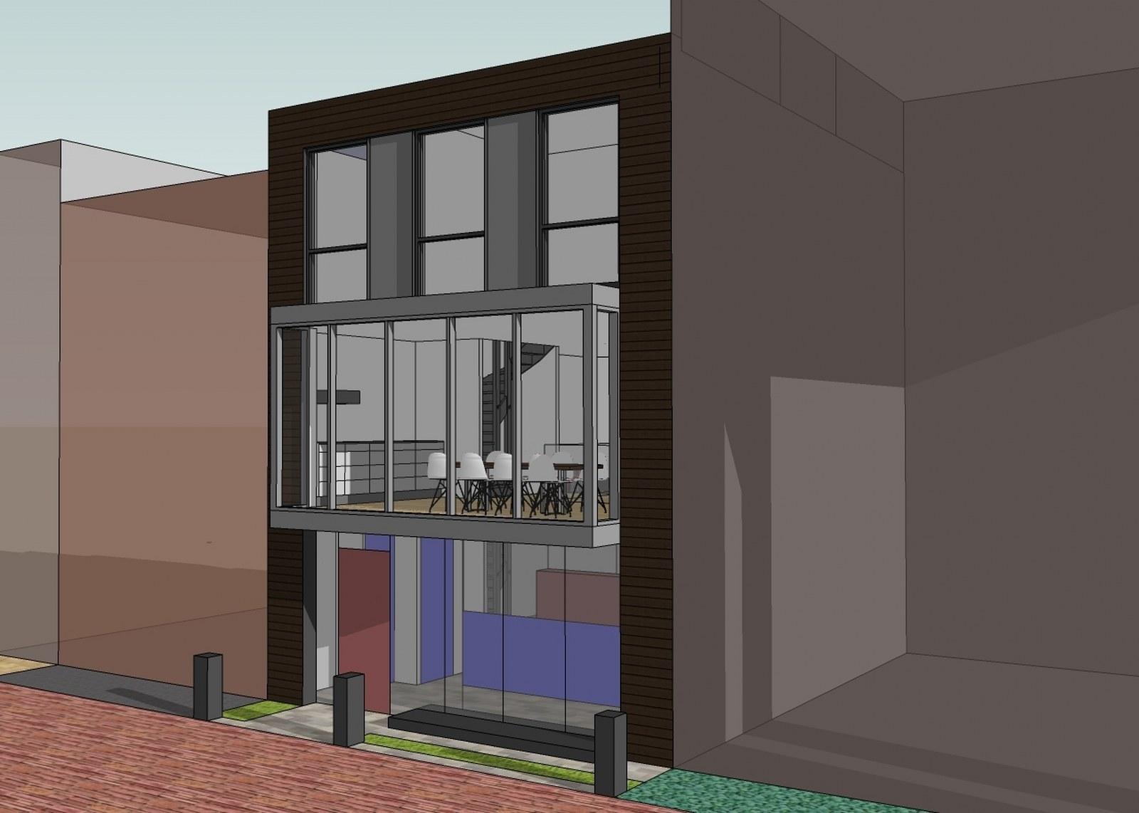 nieuwbouw woonhuis Delfts Licht Delft