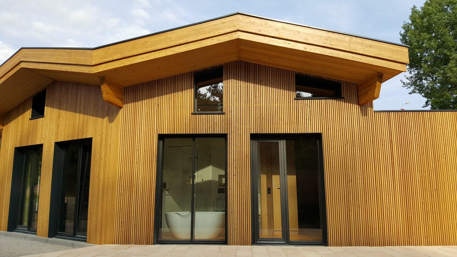 nieuwbouw houten woonhuis Frankrijk
